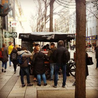 Kaffeewagen Mariahilfer Straße Herbst